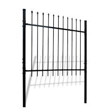 Aleko Athens Style 5 Ft X 5 Ft Black Steel Diy Fence Panel Dwgf5x5 Hd The Home Depot