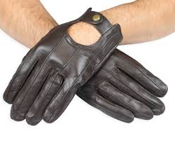 mens leather driving gloves walnut