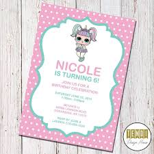 Lol Surprise Dolls Invitations Invitations Custominvitations