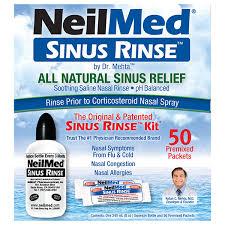 neilmed sinus rinse kit with 50
