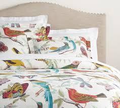 fauna bird print organic percale