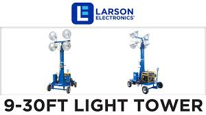 4000w non towable light tower w wheels