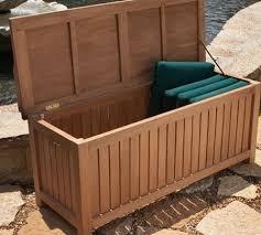 deck box outdoor storage bench