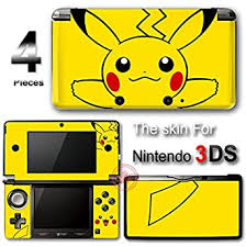 Amazon Com Pokemon Pikachu Cute Skin Vinyl Decal Sticker Cover New 2 For Nintendo 3ds Video Games