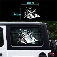 1 Pcs 48 34cm Off Road Compass Car Sticker Rose Navigate Vinyl Sticker Decal Car Truck Auto Laptop Car Door And Hood Tho Wish