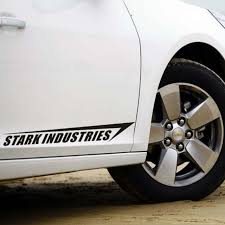 Reflective Personality Carving Stark Industries Car Stickers Car Body Car Styling Removable Waterproof Stickers Wish