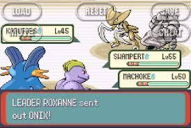 gym leader rematches vs roxanne 2