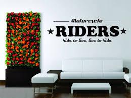 Wall Mural Vinyl Decal Sticker Motorcycle Bike Chopper Harley Davidson Live Ride For Sale Online