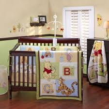baby pooh abc 5 piece crib bedding set