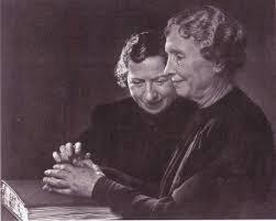 Helen Keller Blind Author Polly Thompson Photo Matted on PopScreen