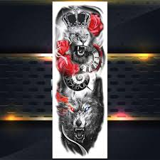 Full Arm Tribal Warrior Temporary Tattoo Sticker For Men Women Wolf Sleeve Tatoos Creative Body Art Fake Waterproof Tattoos Decal Buy At A Low Prices On Joom E Commerce Platform