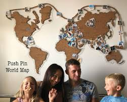 Kids Cork World Map Classroom World Map Cork Map For Kids Etsy