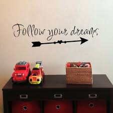 Arrow Wall Sticker Follow Your Dreams Wall Decals Inspirational Lettering Children Room Bedroom Decoration Removable Wall Stickers Decor Removable Wall Stickers For Kids From Onlinegame 7 79 Dhgate Com