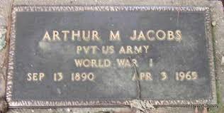 JACOBS (VETERAN WWI), ARTHUR M - Arkansas County, Arkansas | ARTHUR M  JACOBS (VETERAN WWI) - Arkansas Gravestone