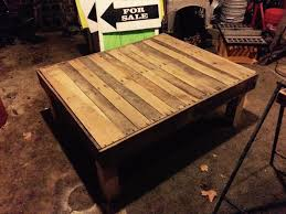 diy large size pallet coffee table