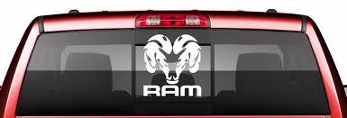 Dodge Ram Logo Vinyl Decal Rear Window Truck Decal Dodge Ram 8 L X 8 5 H Rear Window Decals Truck Decals Dodge Ram Logo