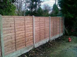 Fence Panels In Concrete Posts And Gravel Boards Sutton Ks Fencing Surrey