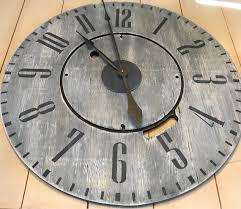 large wall clock rustic clock barn wood