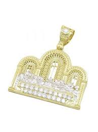 mens 10k yellow gold last supper with