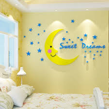 Hot Sale 5184f New Diy Moon Star Wall Sticker Children Room Decoration Sticker Home Wall Decals Baby Nursery Wallpaper Acrylic Stickers S M L Cicig Co