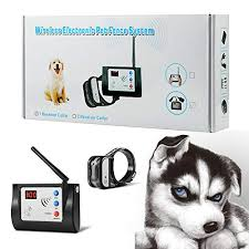Blingbling Petsfun Electric Wireless Dog Fence System Pet Containment System And Pets With Waterproof And Rechargeable Training Collar Receiver For 1 Dogs Boundary Container With 20 Flags 2019 It S Wireless