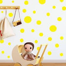 Sunshine Yellow Polka Dot Wall Decals Kids Room Decor Appliques