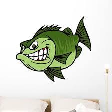 Bass Fishing Mascot Wall Decal Wallmonkeys Com