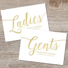 bathroom basket signs wedding printable