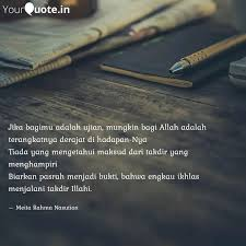 jika bagimu adalah ujian quotes writings by meita rahma