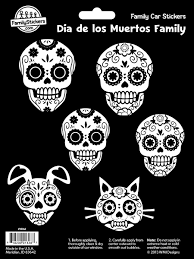 10064 Jpg 900 1 200 Pixeles Family Car Stickers Family Stickers Dia De Los Muertos