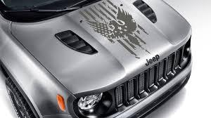 Jeep Renegade Distressed American Flag W Bald Eagle Blackout Hood Vinyl Decal Blackout Hood Decal