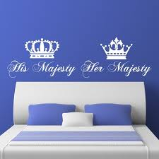 His And Her Majesty Crowns V1 Wall Sticker Decal World Of Wall Stickers