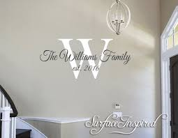 Wall Decals Family Name Personalized Family Wall Decal Name Etsy