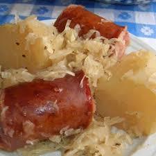 polish sausage sauer potatoes