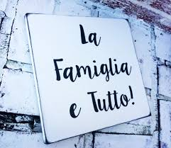 Italian sayings, La Famiglia e Tutto, The family is Everything in ...