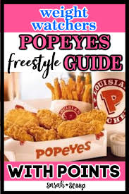 popeyes weight watchers points guide
