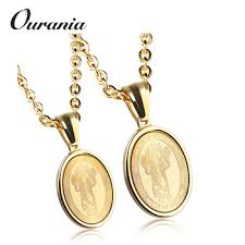 fashion round gold medal pendant