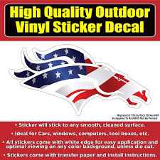 Denver Broncos Head American Flag Vinyl Car Window Laptop Bumper Stick Colorado Sticker