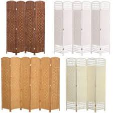 4 6 Panels Room Divider Privacy Screen Folding Partition Home Wall Solid Wicker Ebay