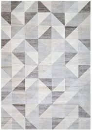 modern geometric triangle pattern rug