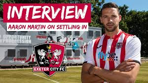 💬 Aaron Martin on settling in at City | Exeter City Football Club ...