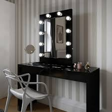 angelina hollywood mirror in black