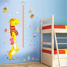Growth Charts Baby 1 Kids Height Growth Chart Giraffe Height Chart Decal Child Height Wall Sticker Height Measurement Chart Wall Decals For Kids Room Bedroom Living Room Decor