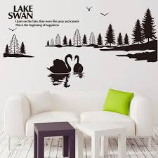 Swan Lake Scenery Wall Art Mural Decor Sticker Quiet On The Lake Wall Quote Decal Poster Home Decoration Wall Applique Wall Sticker Home Decor Wall Sticker Kids From Magicforwall 4 71 Dhgate Com
