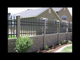 Precast Concrete Fencing Designs Photos Youtube