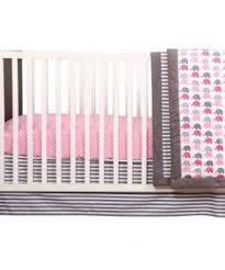 bacati elephants pink gray 10 piece