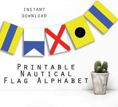 Nautical Flags Alphabet Printable Instant Download Printable Etsy