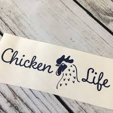 Chicken Life Car Decal Michelle S Variety Shop
