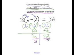 two step equations with distributive