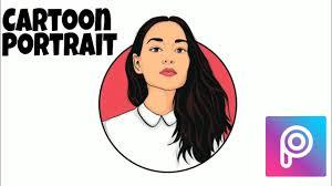 cartoon portrait logo picsart
